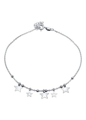 Sterling Silver Star Charms Anklet