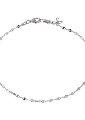 Qualita In Argento Sterling Silver Link Anklet