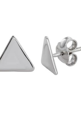 Qualita In Argento Sterling Silver Triangle Studs