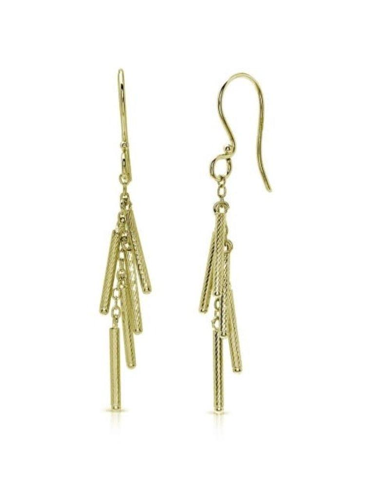 Sterling Gold Plated 5 Bar Dangle Earring