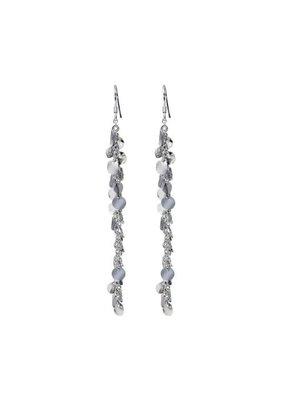 Sterling Silver Fancy Cirlce Disk Earrings