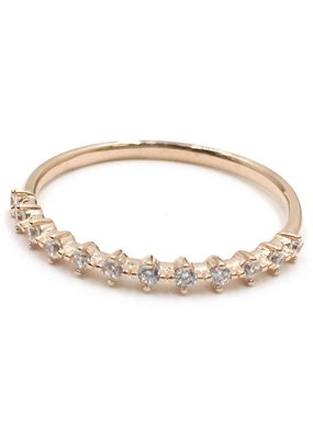 Qualita In Argento Italian Sterling Rose Gold Kite CZ Band