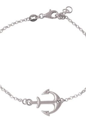 Qualita In Argento Italian Sterling Silver Anchor Bracelet