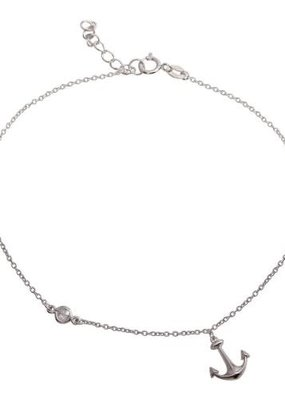 Qualita In Argento Sterling Silver Anchor Anklet