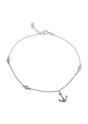 Sterling Silver Anchor Anklet