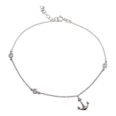 Sterling Silver Anchor Anklet