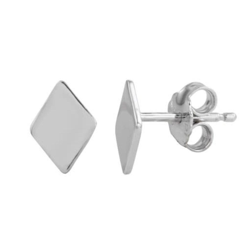 Sterling Silver Rhombus Studs