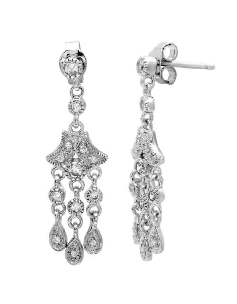 Sterling Silver CZ Dangle Earring