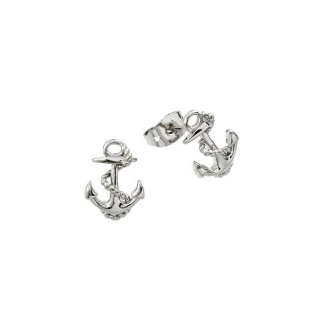 Sterling Silver Anchor Studs