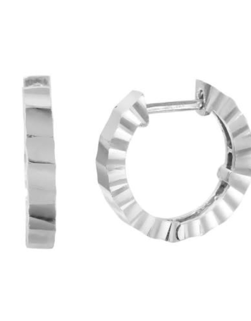 Qualita In Argento Italian Sterling Silver Hammered Hoop