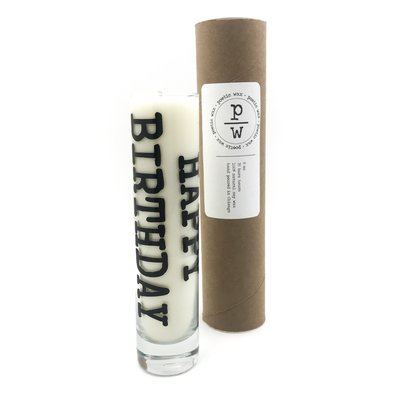 Poetic Wax Happy Birthday Lavender Tall Candle