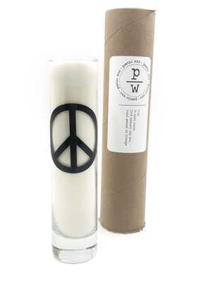 Poetic Wax Peace Sign Citron & Mandarin Tall Candle