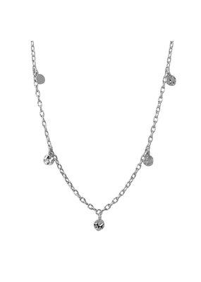 Sterling Silver Dangling Confetti Necklace