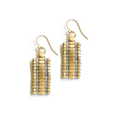 Didi Jewerly Project Brass Labradorite Rectangle Bead Earring