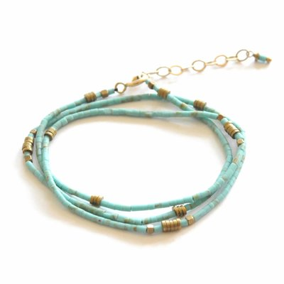 Didi Jewelry Project Turquoise Beaded Wrap Bracelet