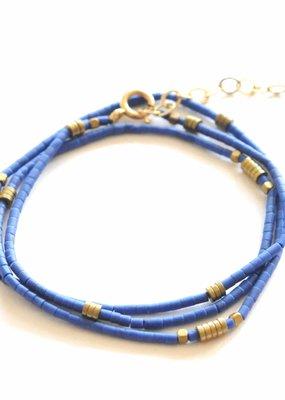 Didi Lapis Beaded Wrap Bracelet