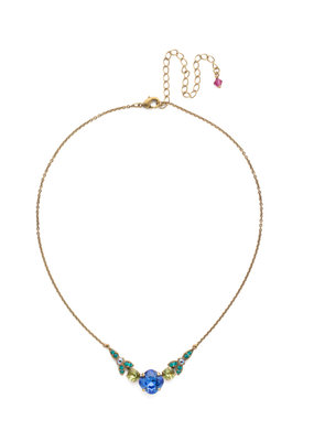 Sorrelli Decidedly Deco Pendant Necklace in Wildflower