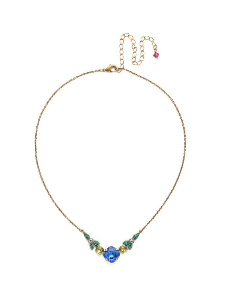 Sorrelli Decidedly Deco Pendant Necklace in Wildflower