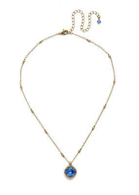 Sorrelli Cushion-Cut Solitaire Necklace in Sapphire