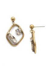 Sorrelli Finley Drop Earring in Clear Crystal