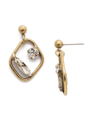 Sorrelli Finley Drop Earring in Clear Crystal