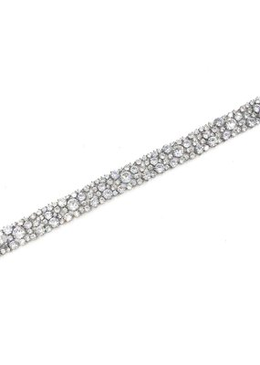 DS Bridal AAA CZ Thick Bridal Tennis Bracelet in Silver
