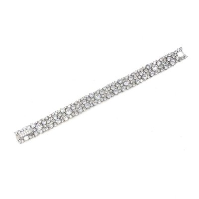 AAA CZ Thick Bridal Tennis Bracelet in Silver