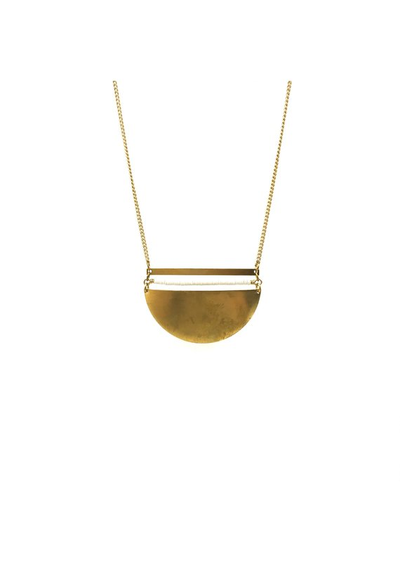 Larissa Loden Brass Sands Coastal Necklace