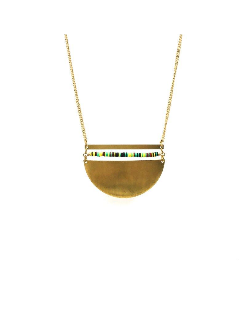 Larissa Loden Brass Life Costal Necklace