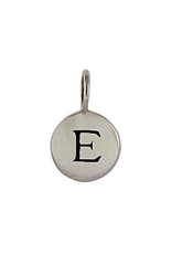 Sterling Silver Initial E Charm