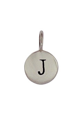 Sterling Silver Initial J Charm