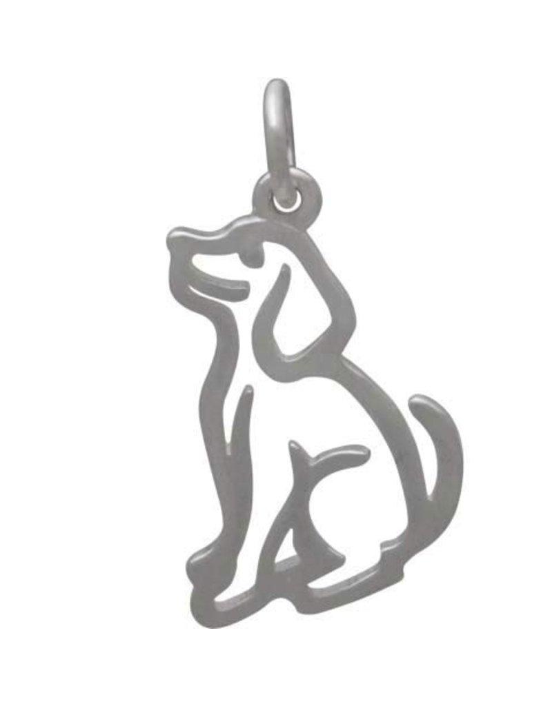 Sterling Silver Openwork Dog Charm