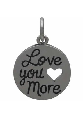 Sterling Silver Love You More Charm