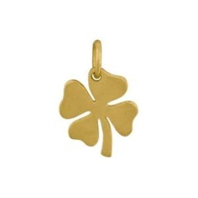 Bronze 24k Gold Plated Medium Clover Charm