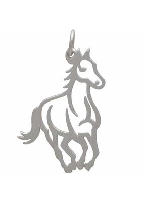 Sterling Silver Openwork Horse Charm
