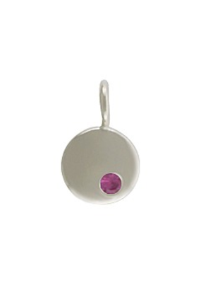 Sterling Silver Birthstone October Charm
