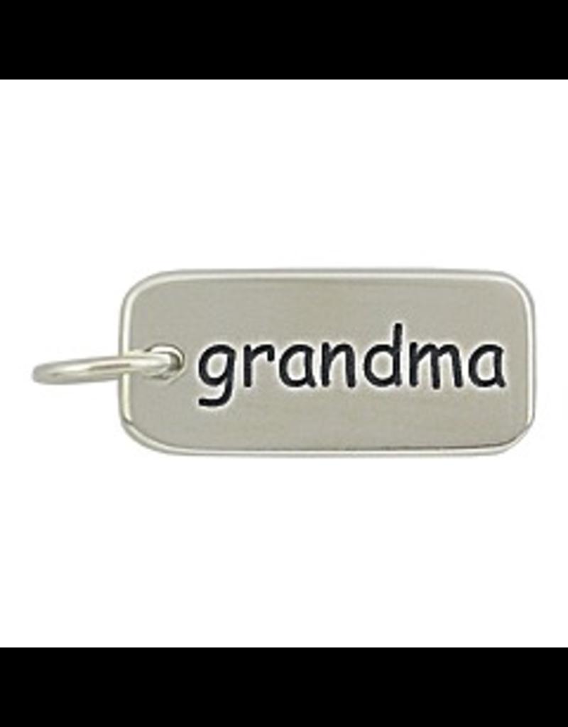 Sterling Silver Grandma Charm