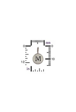 Sterling Silver Initial M Charm
