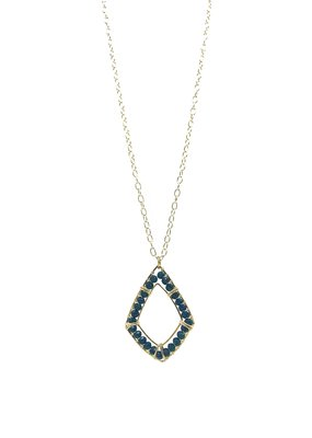 Sonya Renee Ryan Necklace Gold And Teal Chalcedony