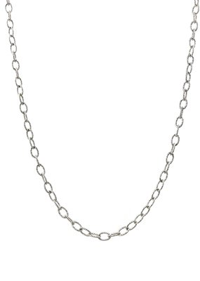 Qualita In Argento Sterling Silver 18 inch Medium Oval Link Chain