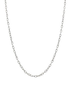 Qualita In Argento Sterling Silver 20 inch Medium/Small Oval Link Chain