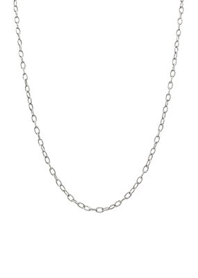 Qualita In Argento Sterling Silver 24 inch Medium/Small Oval Link Chain