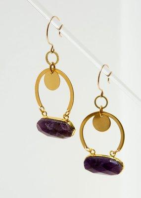 Larissa Loden Amethyst Geneva Earrings