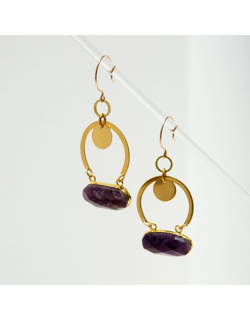 Larissa Loden Amethyst Geneva Earrings