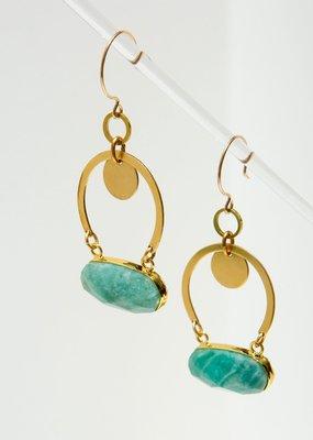 Larissa Loden Amazonite Geneva Earrings