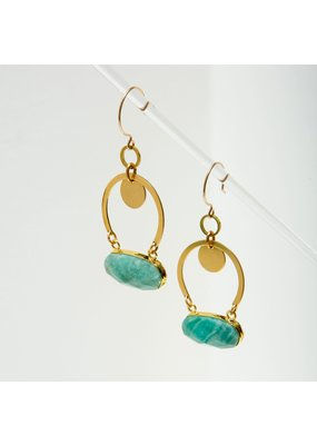 Larissa Loden Amazonite Geneva Earrings