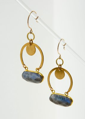 Larissa Loden Labradorite Geneva Earrings