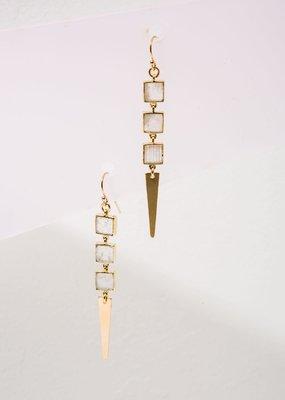 Larissa Loden Moonstone Kitt Earrings