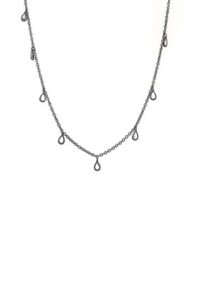 VB & Co. Designs Teardrop CZ Choker Necklace