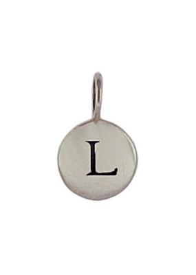 Sterling Silver Initial L Charm